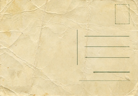 back side of an antique post card Stock Photo - 8878936