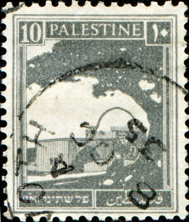 palestine: PALESTINE - CIRCA 1927: A stamp printed in Palestine shows Bethlehem, the tomb of Rachel, circa 1927