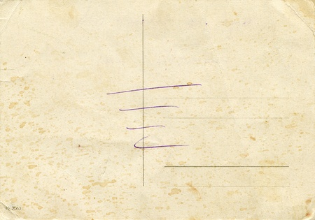 back side of an antique post card Stock Photo - 8903951