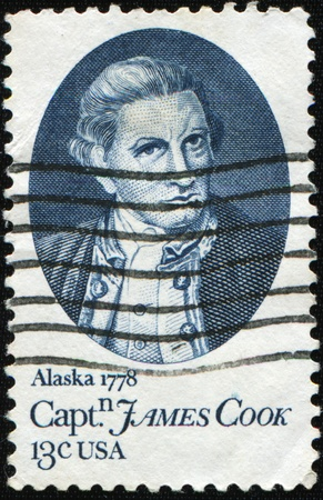 UNITED STATES OF AMERICA - CIRCA 1978: A stamp printed in the USA shows Captain James Cook, circa 1978 photo