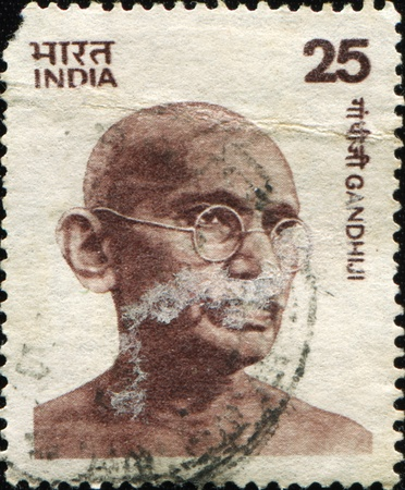 preeminent: INDIA - CIRCA 1976: Mohandas Karamchand Gandhi was the pre-eminent political and spiritual leader of India during the Indian independence movement, circa 1976