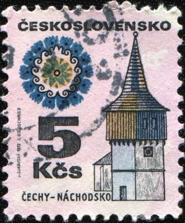 CZECHOSLOVAKIA - CIRCA 1972: A stamp printed in CZECHOSLOVAKIA shows image of the Nachodsko is a small village, the village of Lhota Kacakova Jicin district. Located about 1 km west of Kacakova Lhota circa 1972  photo