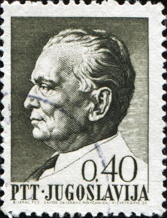 yugoslavia: Yugoslavia - CIRCA 1974: A Stamp printed in the Yugoslavia shows Marshal Josip Tito - leader Yugoslavia, circa 1974