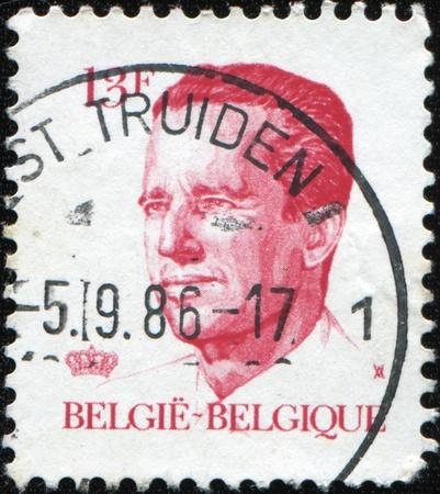 baudouin: BELGIUM - CIRCA 19867: A post stamp printed in Belgium shows King Baudouin, series, circa 1986