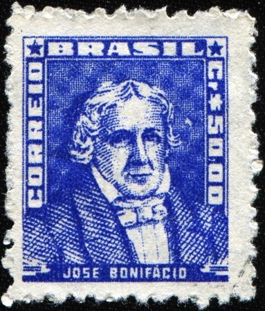 statesman: BRAZIL - CIRCA 1954: A stamp printed in Brazil shows Jose Bonifacio - Brazilian statesman, scientist, poet, educator, a foreign member of the Royal Swedish Academy of Sciences, circa 1954