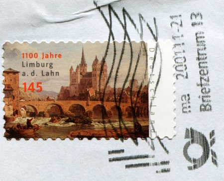ex: GERMANY - CIRCA 2010: A stamp printed in Germany honoring 1100 years of Limburg ex Lahn, circa 2010