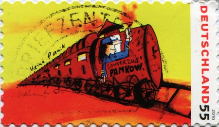 tran: GERMANY - CIRCA 2010: A stamp printed in Germany shows Pankow Special Tran - no panic, circa 2010