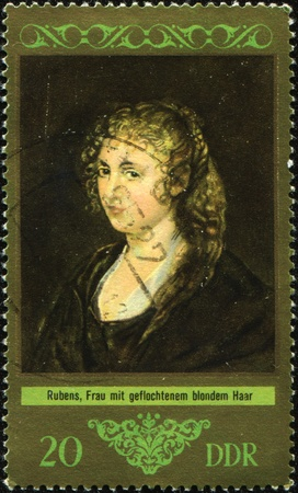 DDR -CIRCA 1972: A stamp printed in the DDR (East Germany) shows a painting by the artist Rubens  photo