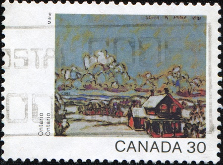 CANADA - CIRCA 1982: A stamp printed in Canada shows draw by Milne - Ontario, circa 1982 Stock Photo - 9319967