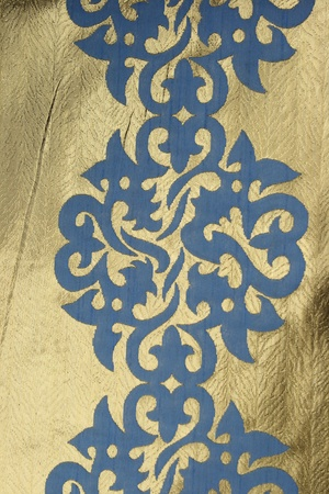 fragment of antique textile with oriental symmetry pattern Stock Photo - 9340985