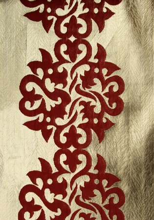 fragment of antique textile with oriental symmetry pattern Stock Photo - 9340980