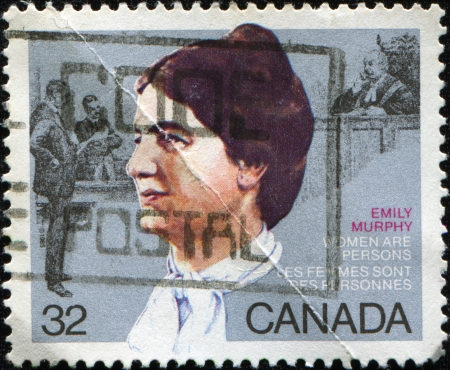 CANADA - CIRCA 1985: A  stamp printed in Canada shows Womens Rights Activist  Emily Murphy, circa 1985 photo