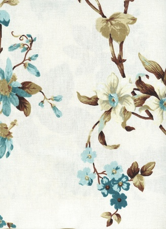 cotton fabric: country style cotton fabric with floral pattern Stock Photo