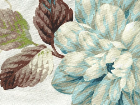 country style cotton fabric with floral pattern Stock Photo