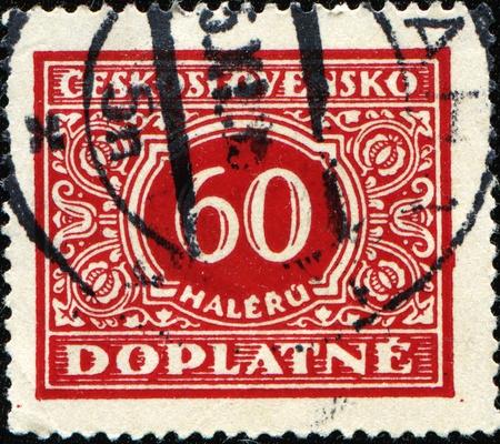 czechoslovakia: CZECHOSLOVAKIA - CIRCA 1953: A Due stamp printed in Czechoslovakia, circa 1953