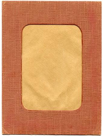 Vintage cardboard photo holder isolated on white background Stock Photo - 10610112