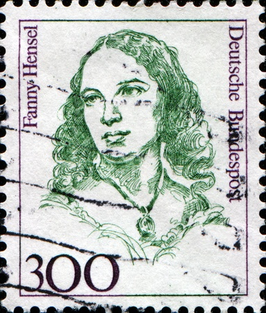 FEDERAL REPUBLIC OF GERMANY - CIRCA :  A stamp printed in the Federal Republic of Germany shows Fanny Hensel (Mendelssohn) German pianist and composer, circa