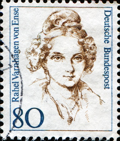 FEDERAL REPUBLIC OF GERMANY - CIRCA 1994:  A stamp printed in the Federal Republic of Germany shows Rahel Varnhagen, German-Jewish writer, circa  1994
