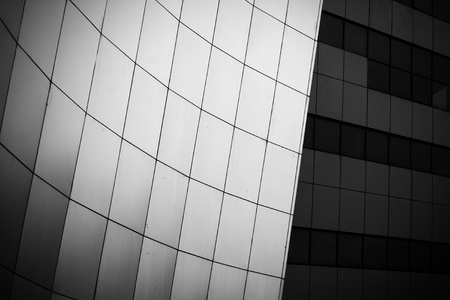 futurist: black and white photo of modern building