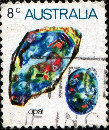 AUSTRALIA - CIRCA 1973: A stamp printed in Australia shows Opal, circa 1973  Stock Photo - 11262436