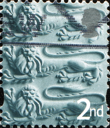 BRITISH - CIRCA 2001: A stamp printed in United Kingdom shows Three Lions, circa 2001 Stock Photo - 11262386