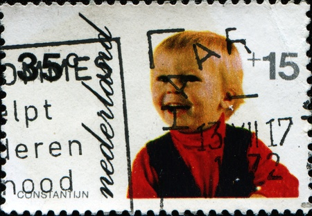 constantin: NETHERLANDS - CIRCA 1972: A stamp printed in Netherlands shows Prince Constantin, circa 1972