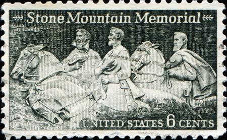 USA - CIRCA 1970: A stamp printed in USA shows Stone Mountain Memorial, circa 1970 photo