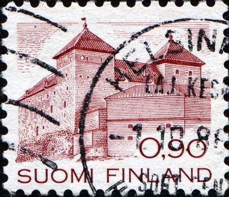 FINLAND - CIRCA 1982: A stamp printed in Finland shows Hame Castle, circa 1982 Stock Photo - 11370139