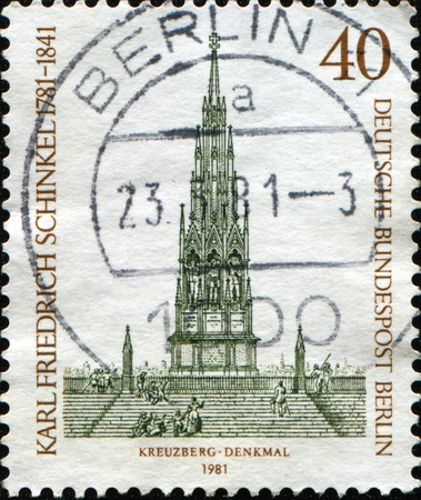 GERMANY - CIRCA 1981: A stamp printed in Germany shows Victoria Park, Berlin-Kreuzberg, Berlin, circa 1981 Stock Photo - 11369631