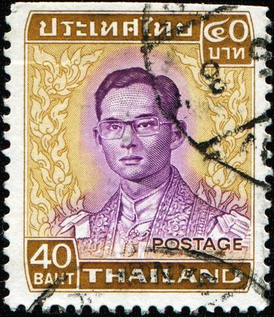 ix portrait: THAILAND - CIRCA 1980: A stamp printed in Thailand shows King Bhumibol Adulyadej, circa 1980 Editorial