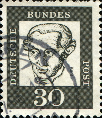immanuel: GERMANY - CIRCA 1961: A stamp printed in Germany shows J Immanuel Kant