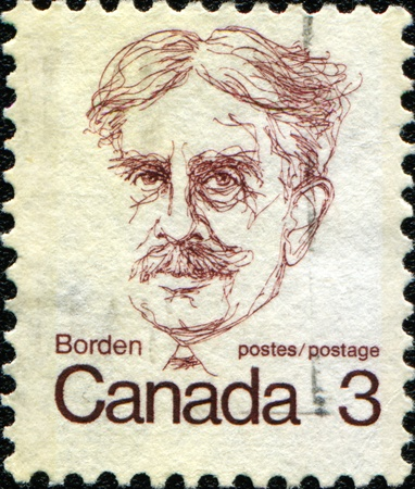 borden: CANADA - CIRCA 1972: A stamp printed in Canada shows Sir Robert L. Borden, circa 1972  Stock Photo