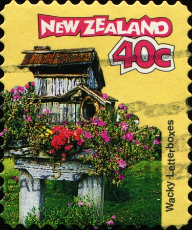 wacky: NEW ZEALAND - CIRCA 1997: A stamp printed in New Zealand shows Wacky - Letterbox, circa 1997