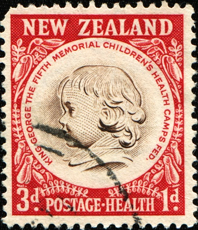 federation: NEW ZEALAND - CIRCA 1955: A stamp printed in New Zealand shows Childrens Health Camps Federation Emblem, circa 1955 Editorial