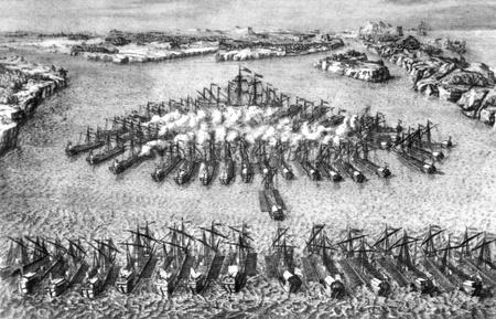 engraver: Incisore da Maurizio Bakua - Battaglia di Gangut, XVIII secolo
