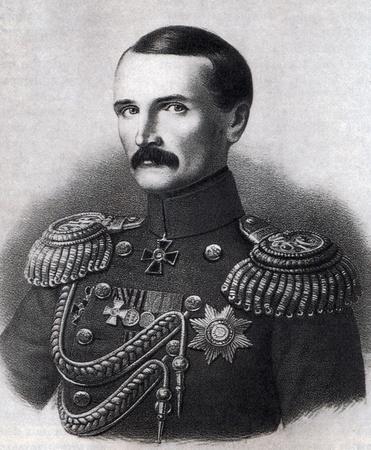 Vice Admiral Wladimir Kornilow Held Krimkrieg. Lithographie nach einer Zeichnung von Georg Wilhelm Timm. XIX Jahrhundert. Editorial