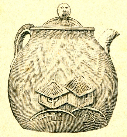 publishers: Japanese teapot baked clay - an illustration of the encyclopedia publishers Education, St. Petersburg, Russian Empire, 1896