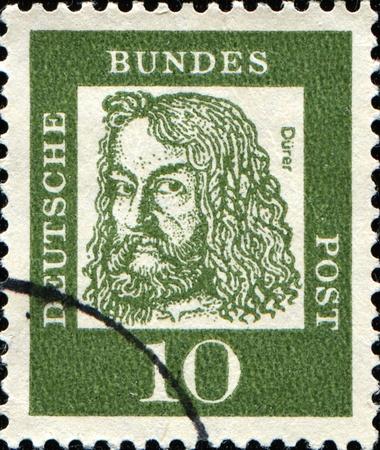 engraver: Germania - CIRCA 1961: Un timbro stampato in Germania mostra Albrecht Durer - un pittore tedesco, autore di stampe, incisore, matematico e teorico da Norimberga, circa 1961 Archivio Fotografico