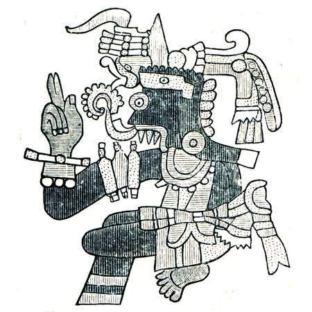 publishers: Aztec God of WeatherTlaloc  - an illustration of the encyclopedia publishers Education, St. Petersburg, Russian Empire, 1896 Editorial