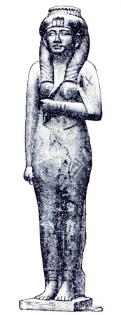 publishers: Egyptian queen Ameritis (alabaster) - an illustration of the encyclopedia publishers Education, St. Petersburg, Russian Empire, 1896