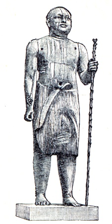 publishers: Sheikh Al Beled from the Sahara, a wooden sculpture - an illustration of the encyclopedia publishers Education, St. Petersburg, Russian Empire, 1896