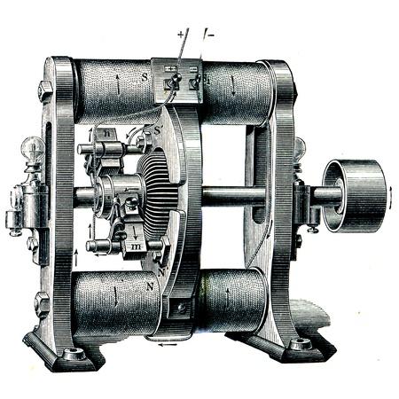 engraver: Dynamo Schuckert - un'illustrazione per l'istruzione enciclopedia editori, San Pietroburgo, Impero russo, 1896 Editoriali