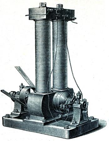 dynamo: Edison dynamo  - an illustration of the encyclopedia publishers Education, St. Petersburg, Russian Empire, 1896 Editorial