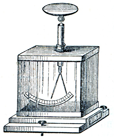 publishers: Electrometer - an illustration of the encyclopedia publishers Education, St. Petersburg, Russian Empire, 1896