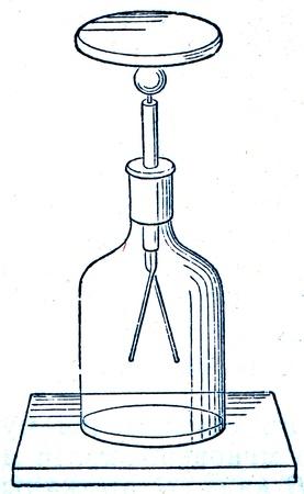 engraver: Elettroscopio - un'illustrazione del Istruzione enciclopedia editori, San Pietroburgo, Impero russo, 1896