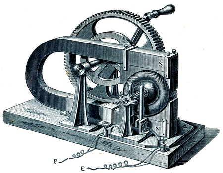 publishers: Magnetoelectrical machine Gram - an illustration of the encyclopedia publishers Education, St. Petersburg, Russian Empire, 1896