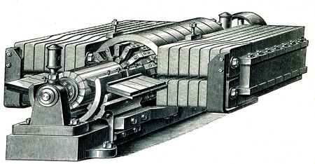electrolytic: Siemens d�namo para refinado electrol�tico de metales - una ilustraci�n de la Educaci�n enciclopedia de los editores, San Petersburgo, Rusia, Imperio, 1896 Editorial
