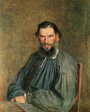 Leo Tolstoy, a portrait of Nicholas Kramskoy, 1873, from the collection of the State Tretyakov Gallery, Moscow