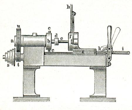 engraver: Tornio - un esempio della educazione enciclopedia editori, San Pietroburgo, Impero Russo, 1896 Editoriali