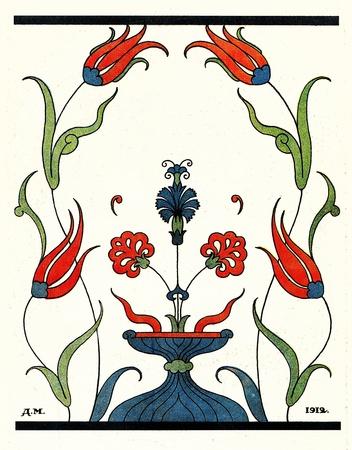 xx century: floral ornament, Illustration by Dmitry Mitrokhin, a fairy tale
